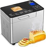 MooSoo Brotbackautomat mit 25 Backprogramme, 3 Backfarben und 3 Brotgrößen, ca. 2L, mit...