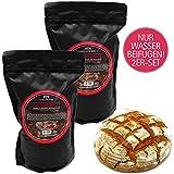 Hallingers Natürliche Brotbackmischung - 2er Sparpack (2.000g) - 2x Bauernbrot - Dinkel & Roggen...