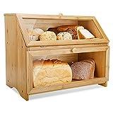 Leader Accessories Brotkasten Bambus Brotbehälter lebensmittelecht Brotaufbewahrung pflegeleicht...